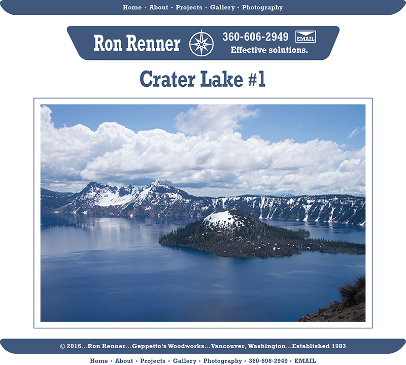 Crater Lake 01 Ron Renner Geppetto S Woodworks Since