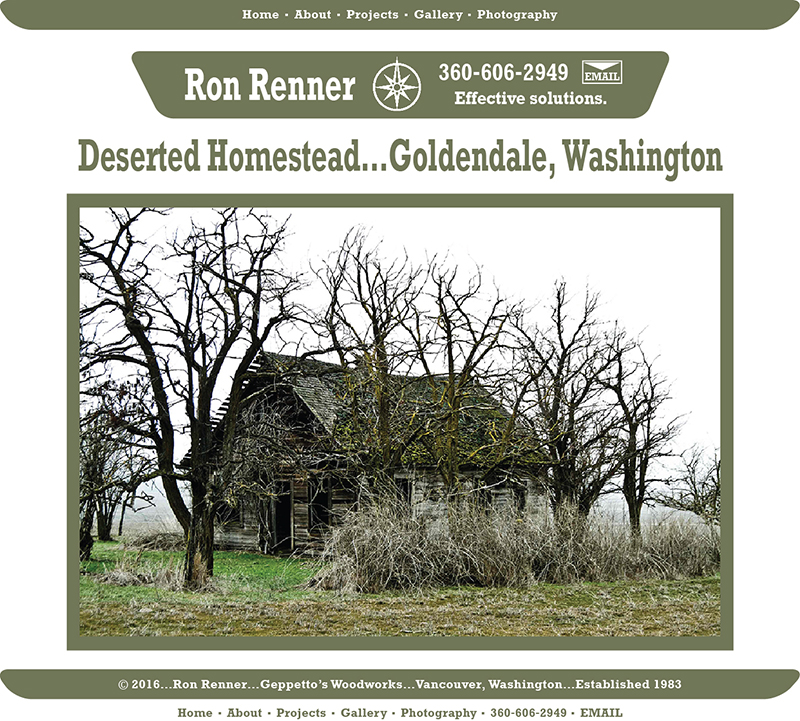 Deserted Homestead Ron Renner Geppetto S Woodworks